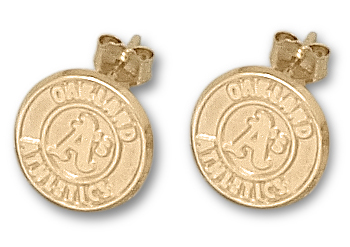 Oakland Athletics 14K Gold Post or Dangle Earrings