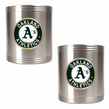 Oakland Athletics 2 Can Holder Set