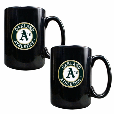 Oakland Athletics 2 Piece Coffee Mug Set