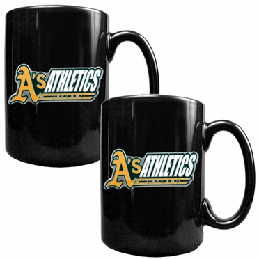 Oakland Athletics 2 Piece Coffee Mug Set (Wordmark)