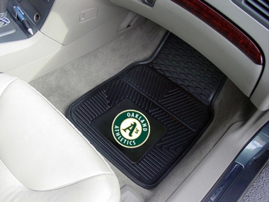 Oakland Athletics 2 Piece Heavy Duty Vinyl Car Mats