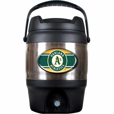 Oakland Athletics 3 Gallon Stainless Steel Jug
