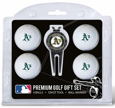 Oakland Athletics 4 Ball and Divot Tool Set