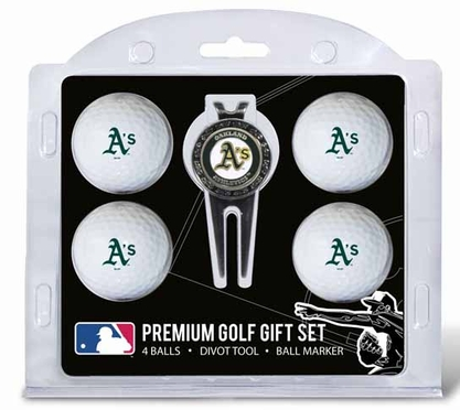Oakland Athletics 4 Ball and Tool Gift Set