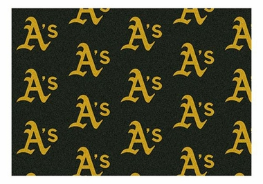 "Oakland Athletics 5'4"" x 7'8"" Premium Pattern Rug"