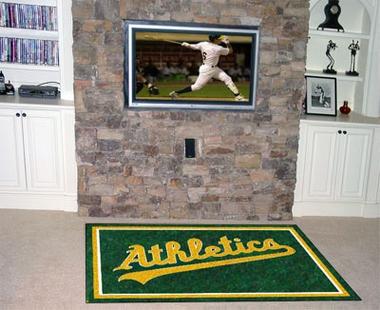 Oakland Athletics 5 Foot x 8 Foot Rug