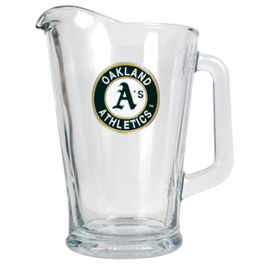 Oakland Athletics 60 oz Glass Pitcher