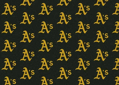 "Oakland Athletics 7'8 x 10'9"" Premium Pattern Rug"