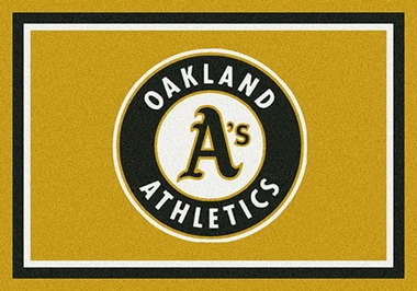 "Oakland Athletics 7'8"" x 10'9"" Premium Spirit Rug"