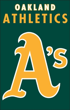 Oakland Athletics Applique Banner Flag