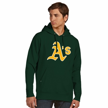 Oakland Athletics Big Logo Mens Signature Hooded Sweatshirt (Team Color: Green)