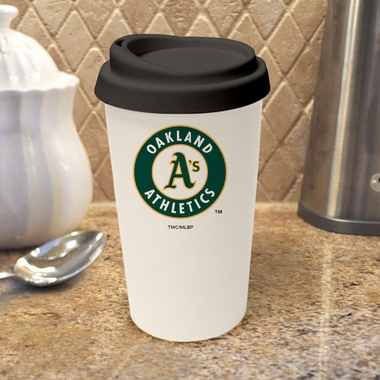 Oakland Athletics Ceramic Travel Cup