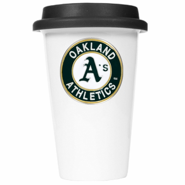 Oakland Athletics Ceramic Travel Cup (Black Lid)
