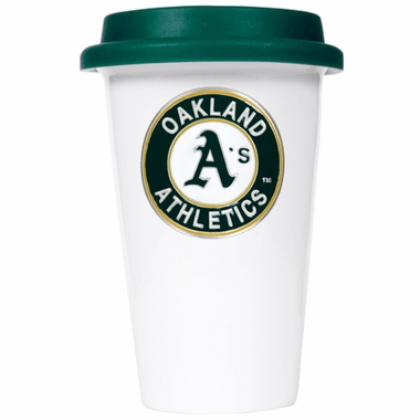 Oakland Athletics Ceramic Travel Cup (Team Color Lid)