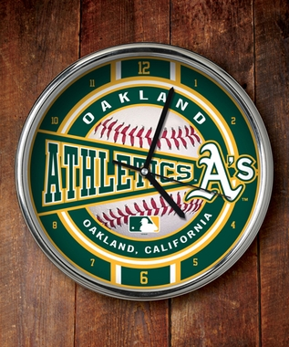 Oakland Athletics Chrome Clock