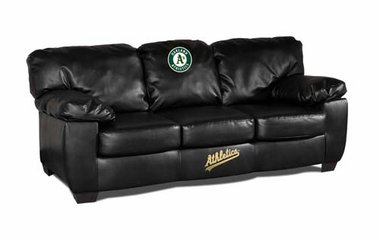Oakland Athletics Leather Classic Sofa
