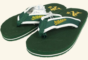 Oakland Athletics Contoured Flip Flop Sandals