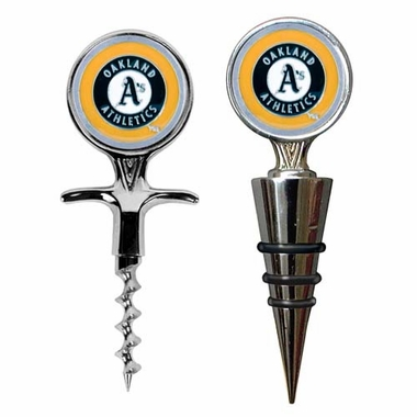 Oakland Athletics Corkscrew and Stopper Gift Set