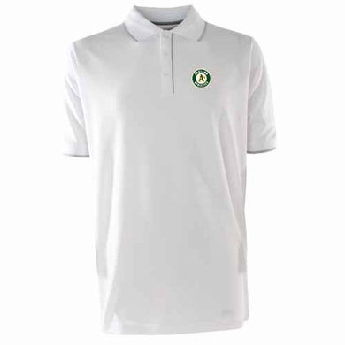 Oakland Athletics Mens Elite Polo Shirt (Color: White)
