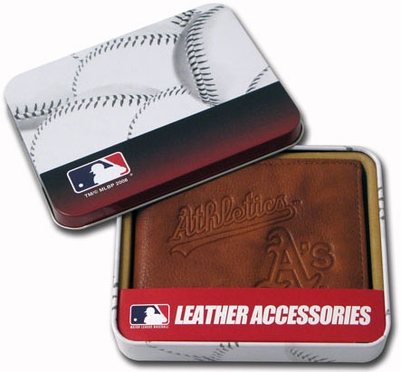Oakland Athletics Embossed Leather Bifold Wallet