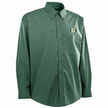 Oakland Athletics Mens Esteem Button Down Dress Shirt (Team Color: Green)