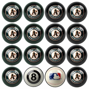 Oakland Athletics Home and Away Complete Billiard Ball Set