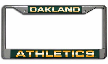 Oakland Athletics Laser Etched Chrome License Plate Frame