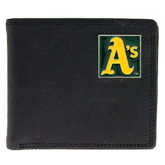 Oakland Athletics Leather Bifold Wallet (F)
