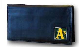 Oakland Athletics Leather Checkbook Cover