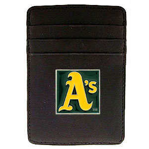 Oakland Athletics Leather Money Clip (F)