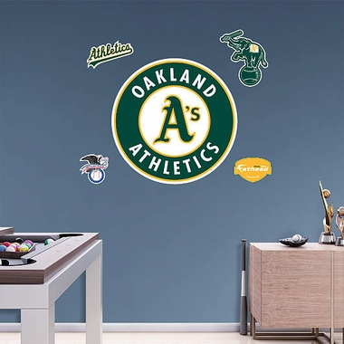 Oakland Athletics Logo Fathead Wall Graphic