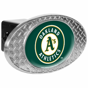 Oakland Athletics Metal Diamond Plate Trailer Hitch Cover