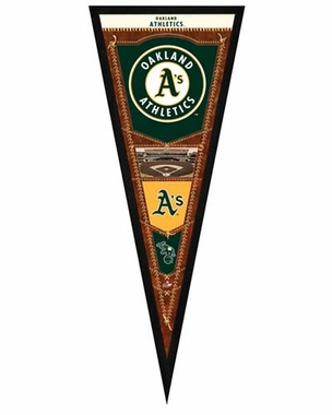 "Oakland Athletics Pennant Frame - 13""x33"" (No Glass)"