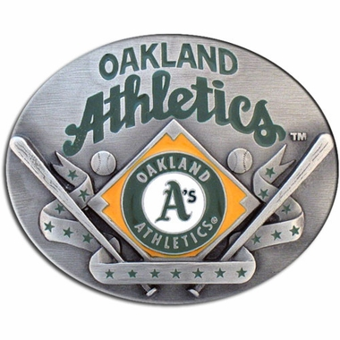 Oakland Athletics Enameled Belt Buckle
