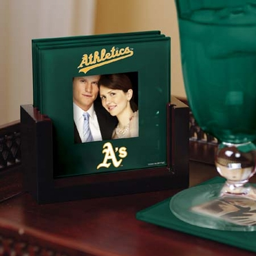 Oakland Athletics Photo Coaster Set