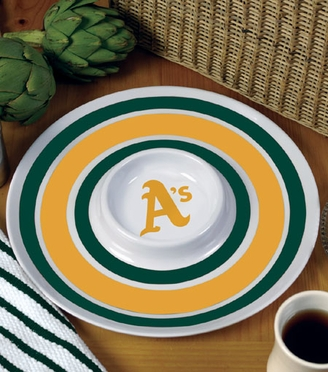 Oakland Athletics Plastic Chip and Dip Plate