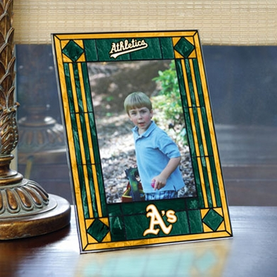 Oakland Athletics Portrait Art Glass Picture Frame
