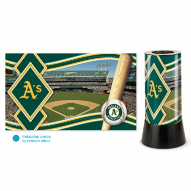 Oakland Athletics Rotating Lamp