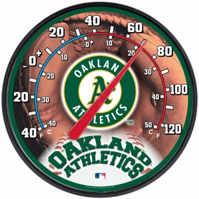 Oakland Athletics Round Wall Thermometer
