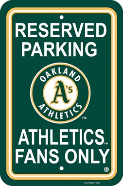 Oakland Athletics Plastic Parking Sign (P)
