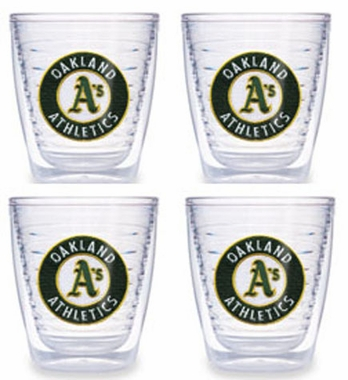 Oakland Athletics Set of FOUR 12 oz. Tervis Tumblers