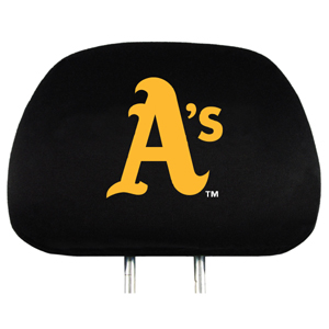 Oakland Athletics Set of Headrest Covers