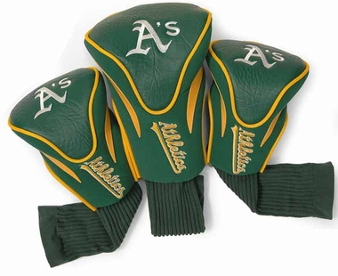 Oakland Athletics Set of Three Contour Headcovers