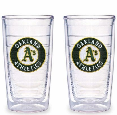 Oakland Athletics Set of TWO 16 oz. Tervis Tumblers