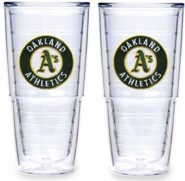 "Oakland Athletics Set of TWO 24 oz. ""Big T"" Tervis Tumblers"