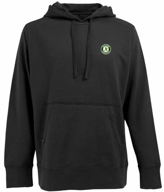 Oakland Athletics Mens Signature Hooded Sweatshirt (Team Color: Black)