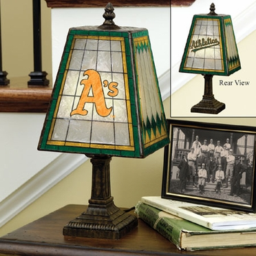 Oakland Athletics Small Art Glass Lamp