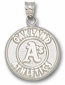 Oakland Athletics Sterling Silver Pendant