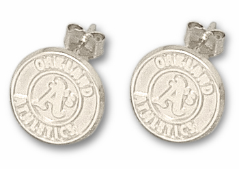 Oakland Athletics Sterling Silver Post or Dangle Earrings