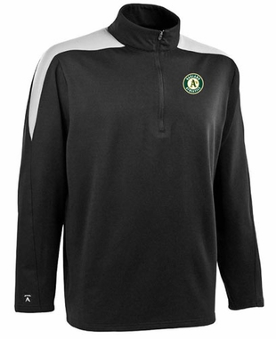 Oakland Athletics Mens Succeed 1/4 Zip Performance Pullover (Team Color: Black)